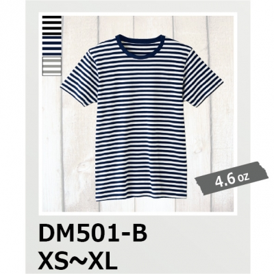 Tシャツ ボーダー 4.6oz ファインフィット DALUC/ダルク DM501