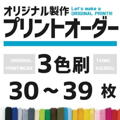 オリジナルプリント プリント料金 3色 / 30枚から39枚
