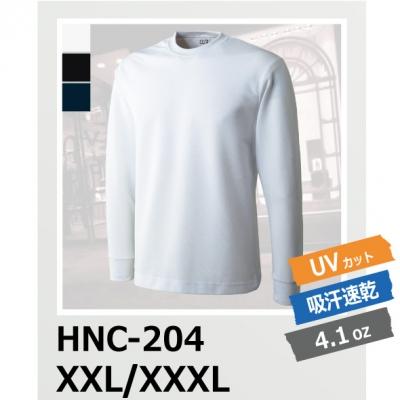 【62%OFF/最安値に挑戦】吸汗速乾 ハニカム長袖Tシャツ(リブあり) HNC-204