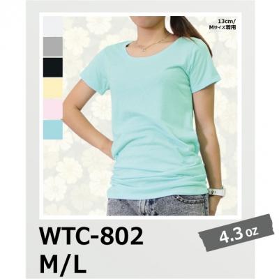 【65%OFF/最安値に挑戦】チュニックTシャツ(レディース) WTC-802