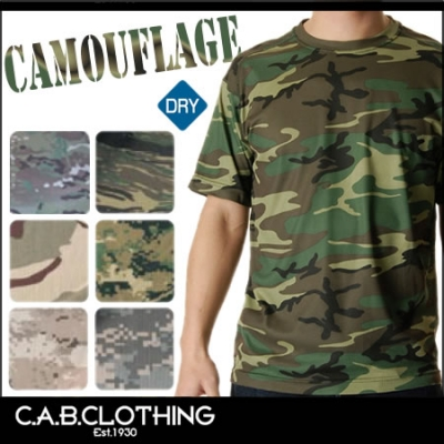 【最安値に挑戦】吸汗速乾 ドライ クールナイスカモフラージュTシャツ C.A.B.CLOTHING 6589-01