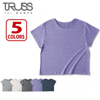 【61%OFF/最安値に挑戦】4.1oz トライブレンド ワイド Tシャツ レディース TRUSS/トラス  TWD-134