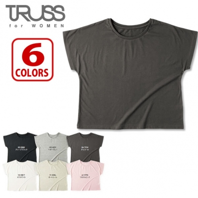 【51%OFF/最安値に挑戦】4.1oz ドルマン Tシャツ レディース TRUSS/トラス WDN-804