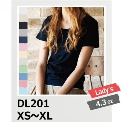 【最安値に挑戦】4.0oz T/C クルーネック Tシャツ レディース DALUC/ダルク DL201