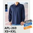 速乾 ポロシャツ 4.3オンス ポケット付き 長袖 アクティブ ポロシャツ APL-269