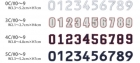 【圧着ワッペン】数字シリーズ#2ライオンブラザース社製 WP-003-2