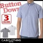 【最安値に挑戦】オックスフォード ボタンダウン 半袖シャツ C.A.B.CLOTHING 1068-01