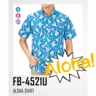 【最安値に挑戦】ボタンダウン ハイビスカス アロハシャツ クールビズ FB4521U